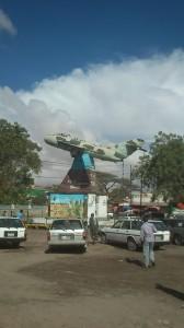 Hargeisa - MIG Monument. Postaven na oslavu vítězství Somálského národního hnutí nad vojsky Siada Barreho