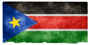 Jižní Súdán - stání vlajka