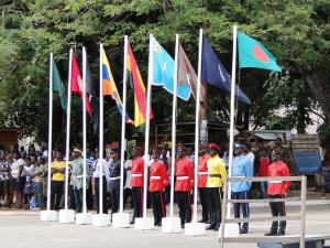 Připomínka padlých vojáků ve světových válkách a všech ghanských vojáků sloužících na zahraničních misích. Kumasi, Ghana. Foto Jakub Horák