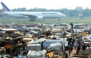 Uprchlický tábor, letiště M´Poko. Foto: SIRIRI o.p.s.