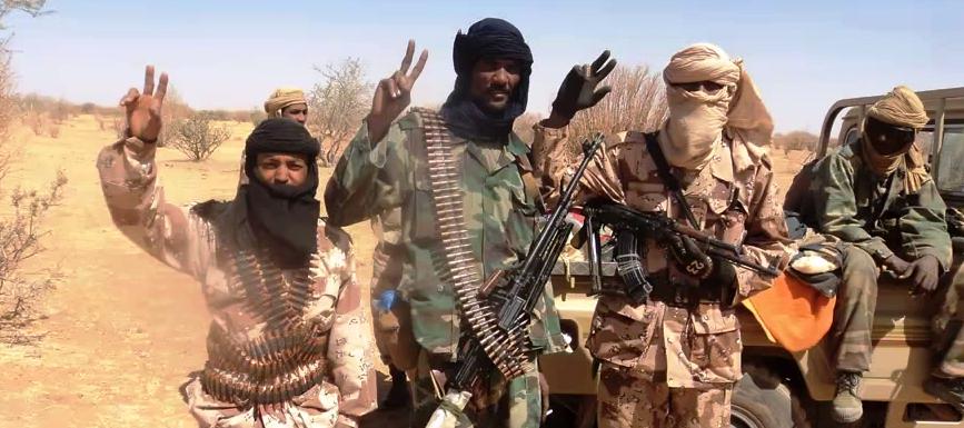 Skupinka Tuaregů z MNLA, Mali. Zdroj: YouTube.com