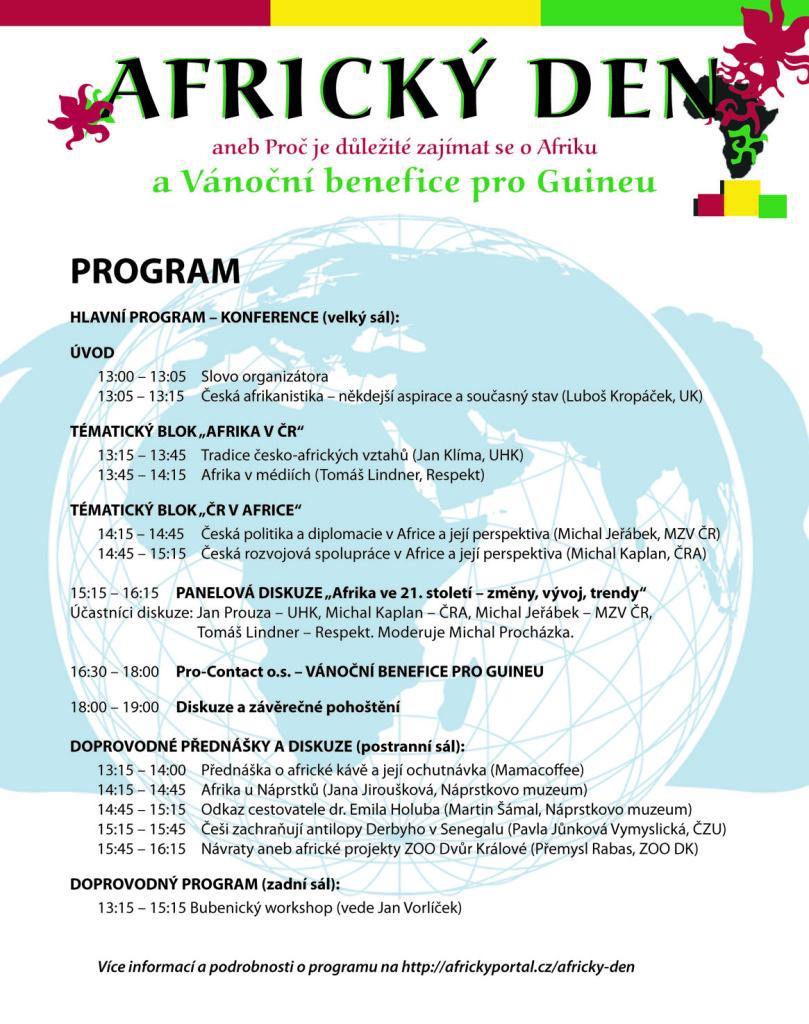 AFRICKÝ DEN aneb Proč je důležité zajímat se o Afriku - program