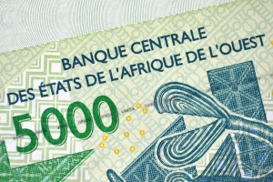 Západoafrický frank. Ilustrační foto.