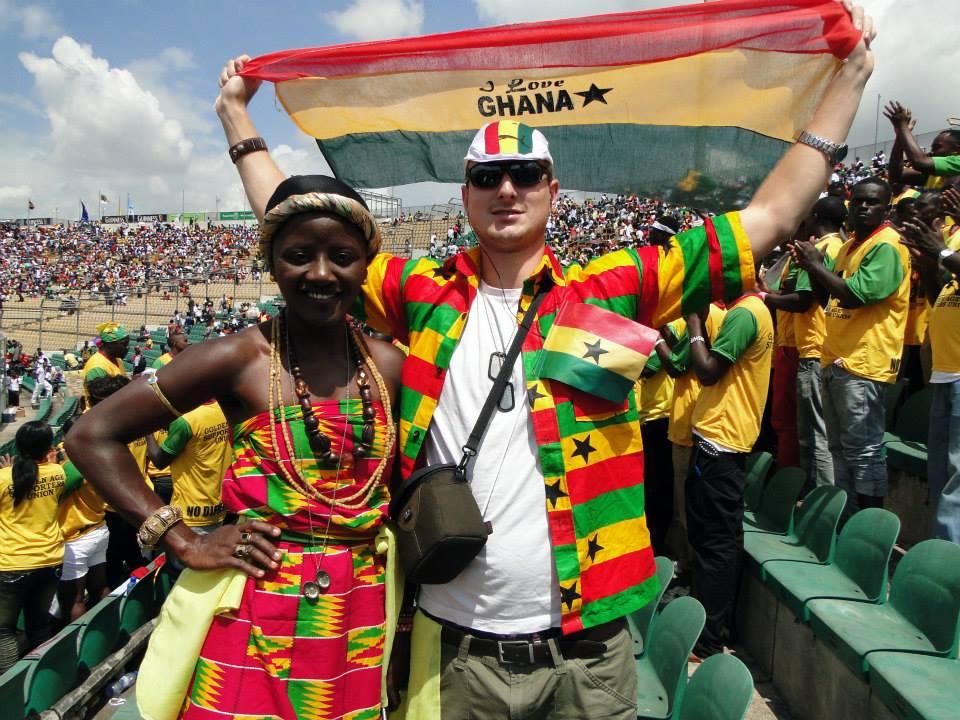 Kvalifikace na mistrovství světa za účasti studentů UHK (Ghana : Egypt, 6:1 :-)), Kumasi, Ghana. Foto: Jakub Horák