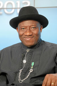 Dosavadní prezident Goodluck Jonathan