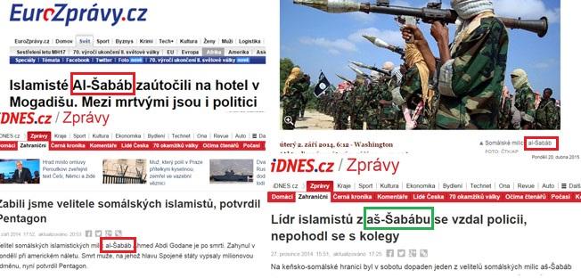 Chyby přepisu v českých médiích.