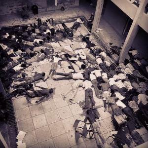 Hrůzný pohled na dvůr univerziy v Garisse. Zdroj: Facebook