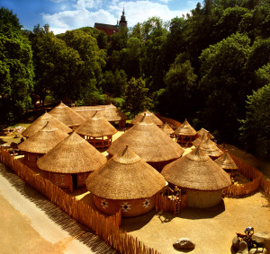 Africká vesnička Matongo v ZOO Jihlava. Foto: Zoo Jihlava