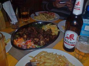'Nyama choma' aka hovězí pečeně