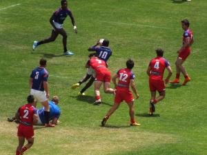 Parádní rugbyová momentka
