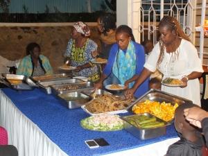 Keňská štedrovečerní večeře.