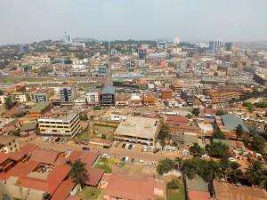 Panorama hlavního města Kampala