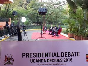 Přípravy na prezidentskou debatu
