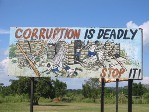 """""""Korupce je smrtící."""" Foto: futureatlas"""